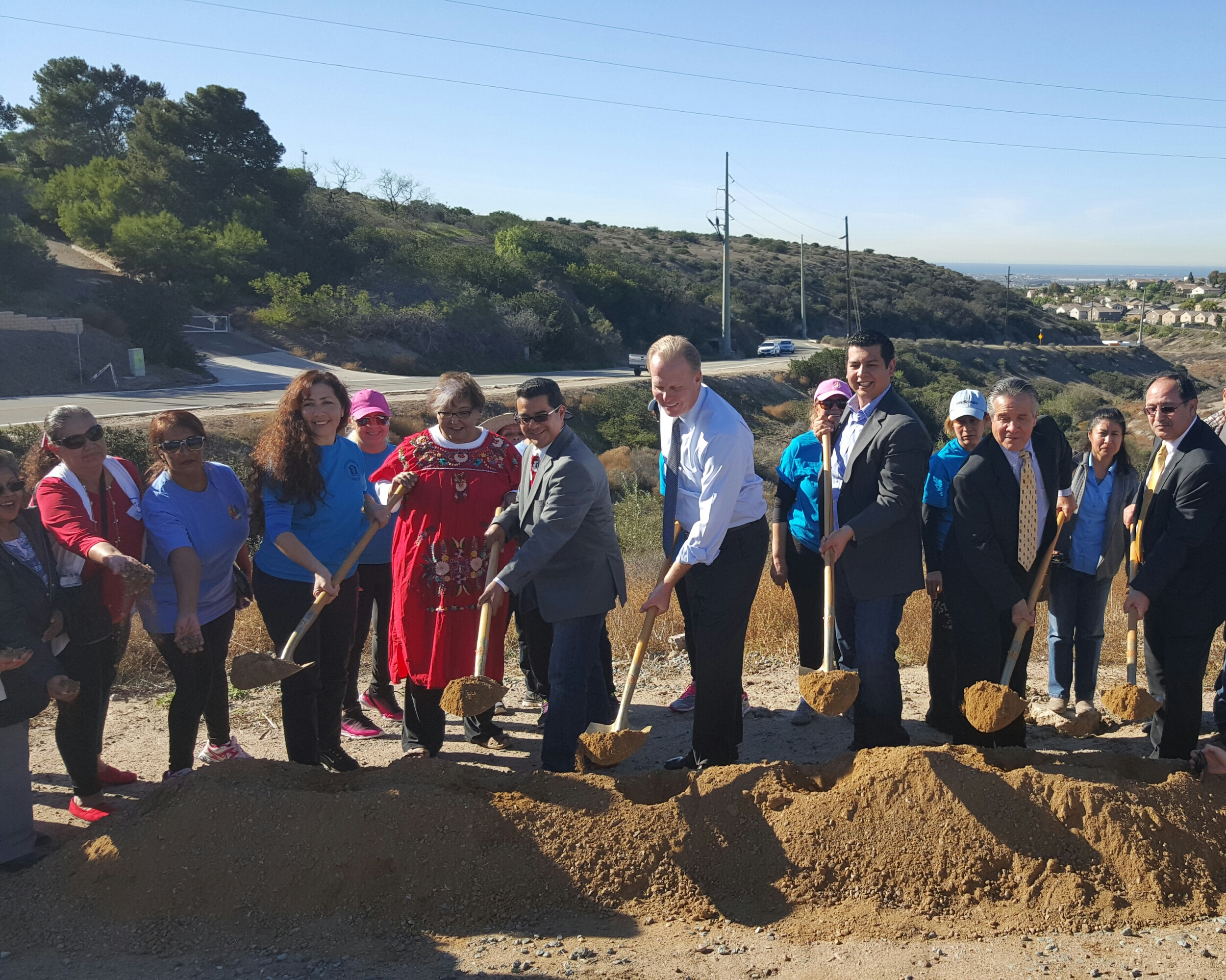 Photo of groundbreaking in Otay Mesa
