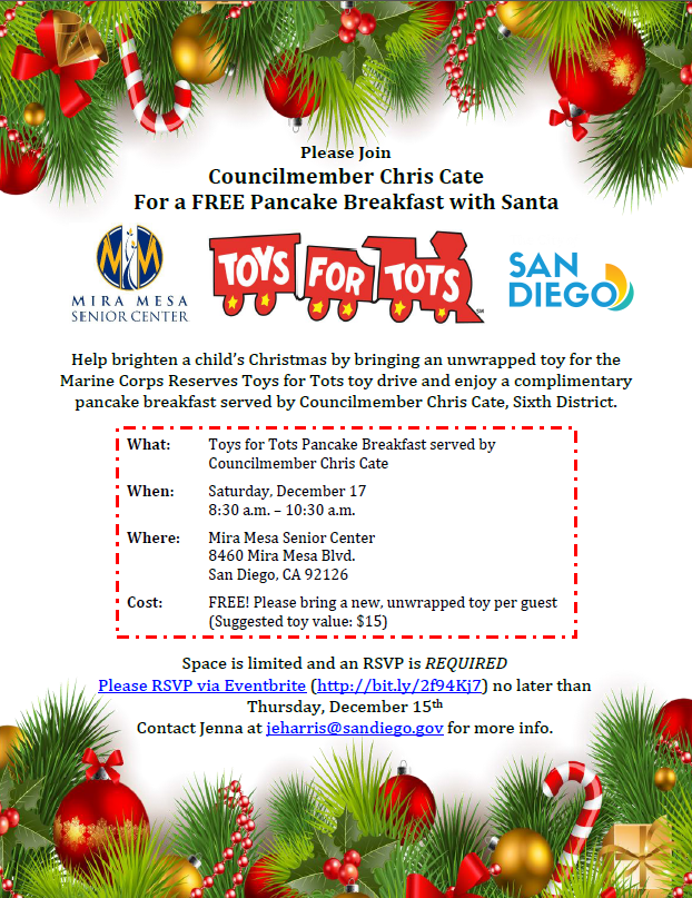 Toys for Tots - Free Pancake Breakfast