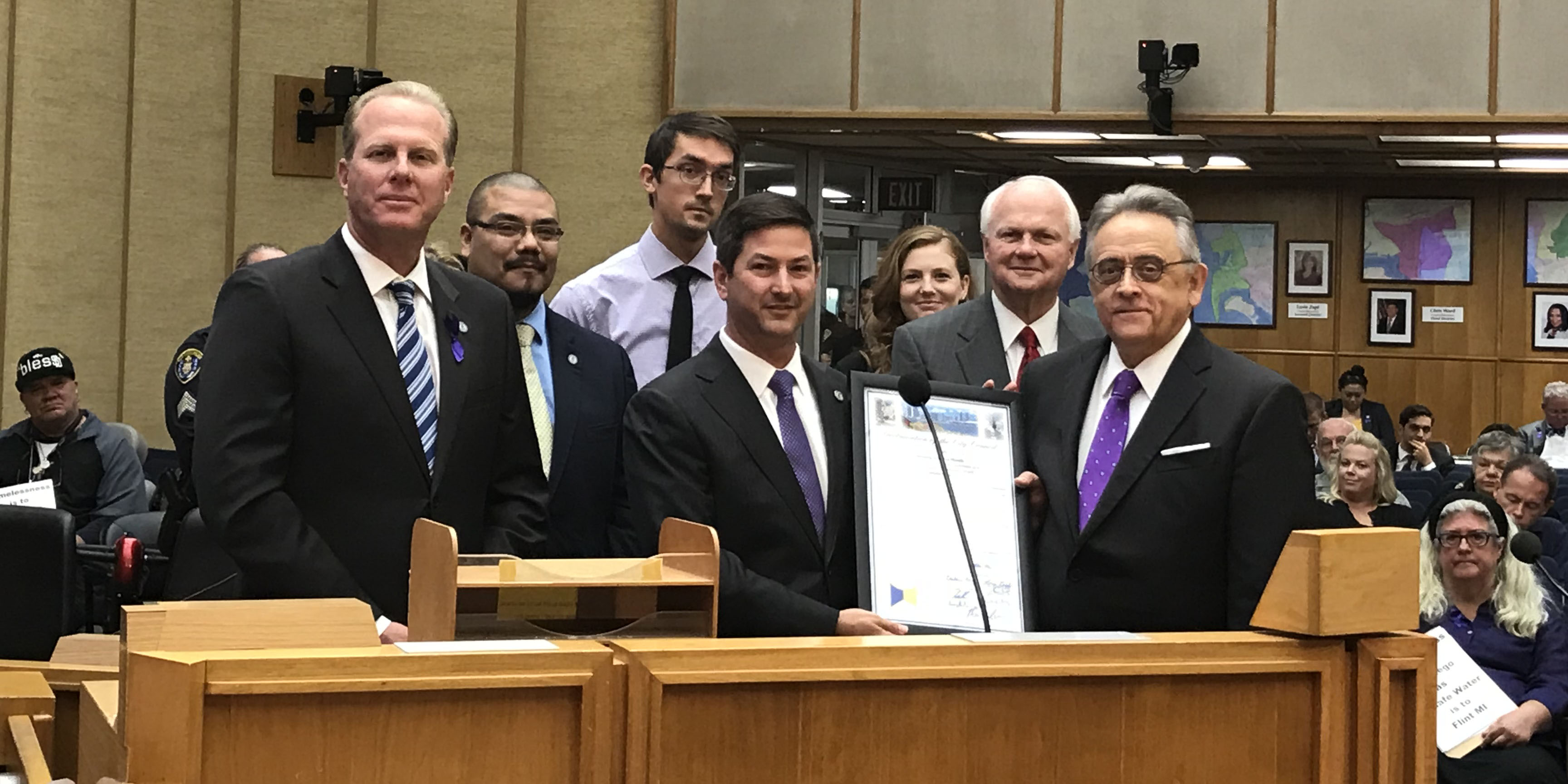 Housing America Month Proclamation at Council