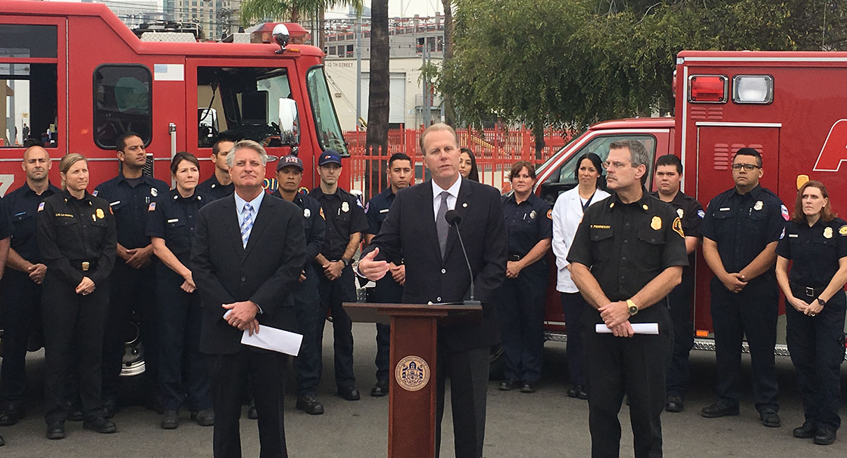 American Medical Response and San Diego Fire-Rescue Press Conference Oct. 13