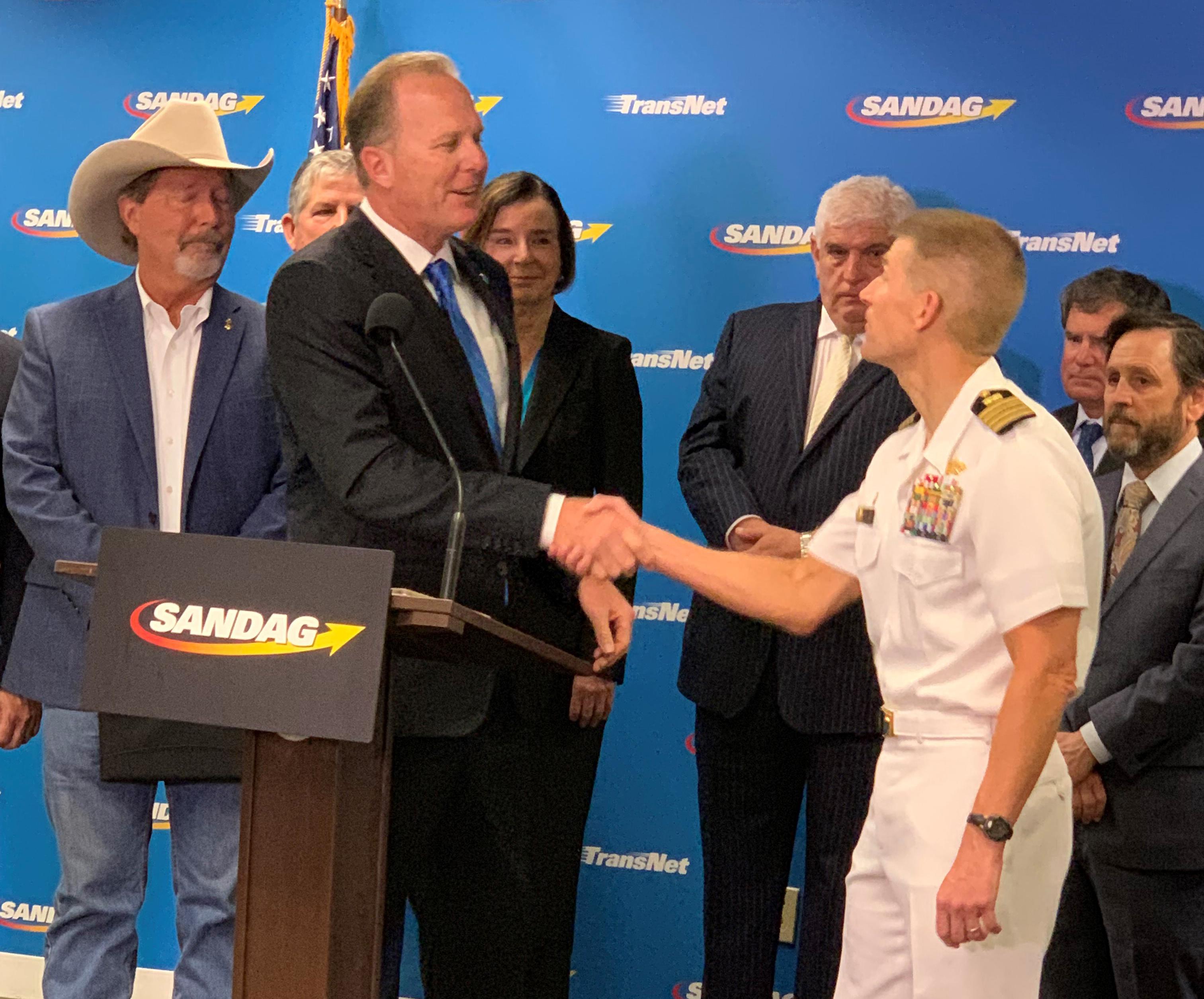 Navy / SANDAG sign MOU