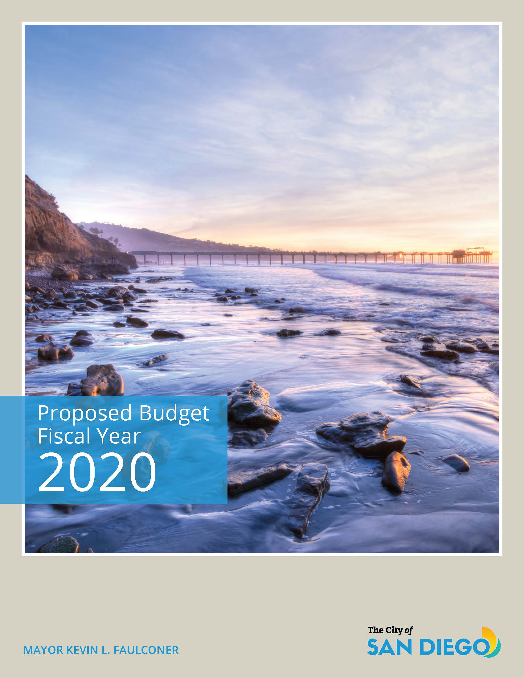 Cover of FY20 Proposed Budget