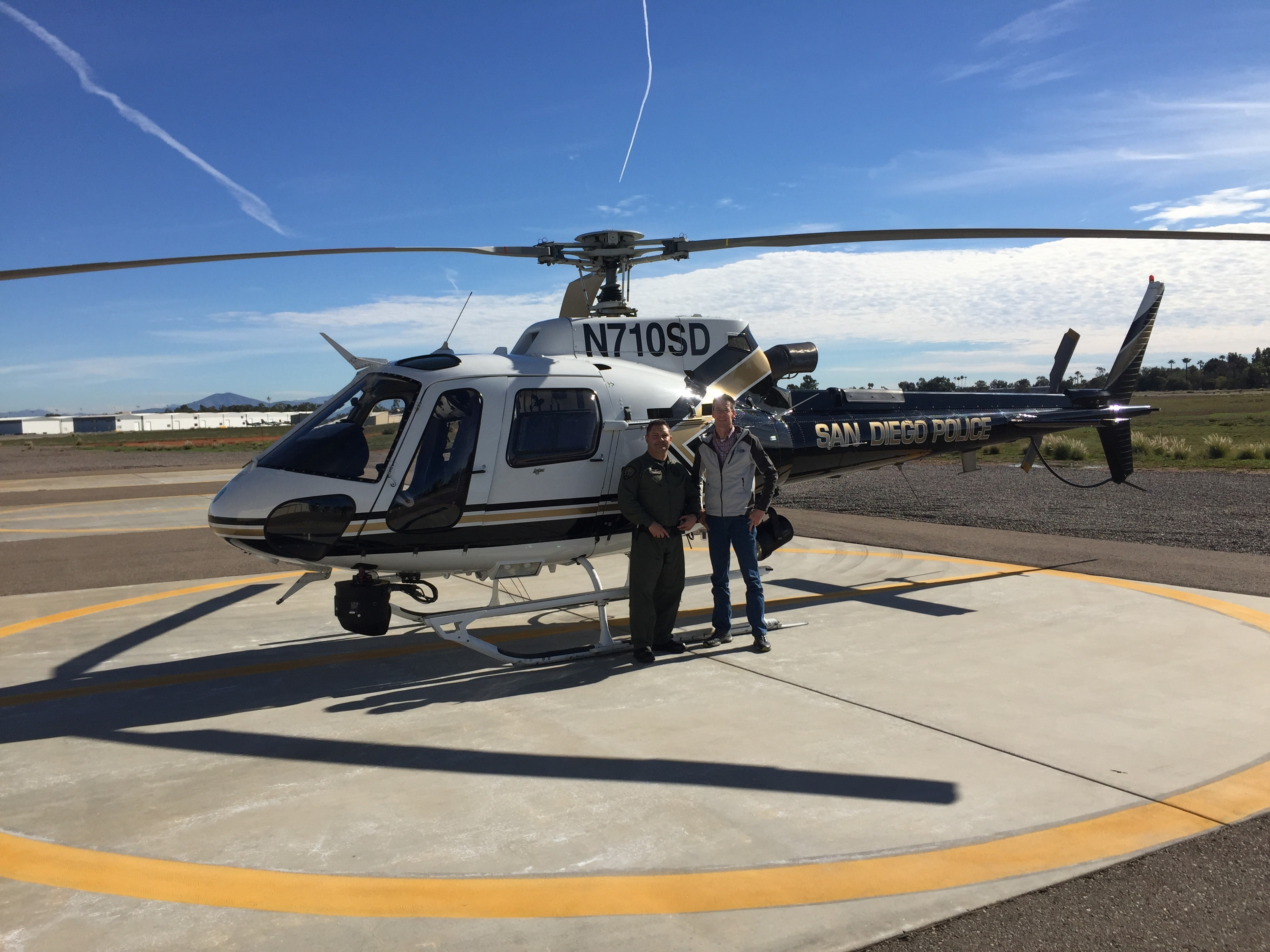 Photo of SDPD Able Helicopter ride-along
