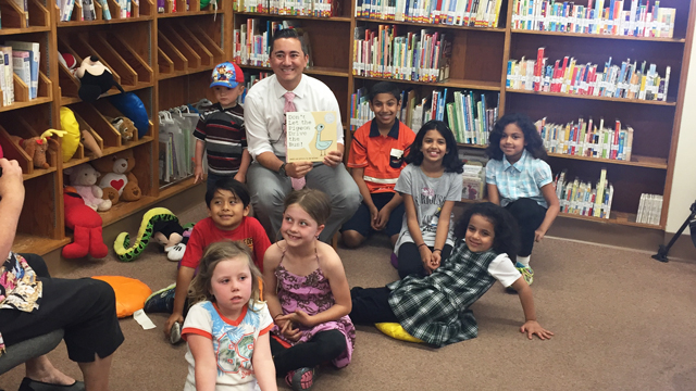 Councilmember Chris Cate at the Balboa Library