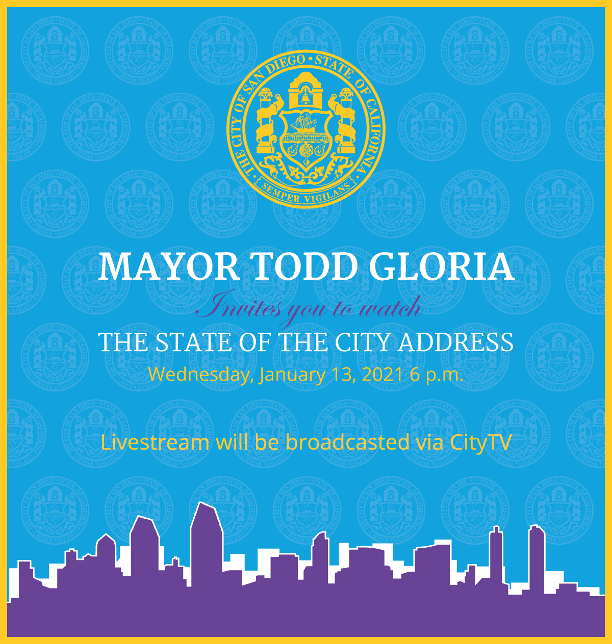 State of the city address mayor kevin l faulconer and the san diego city council invite you to attend stopboris Images