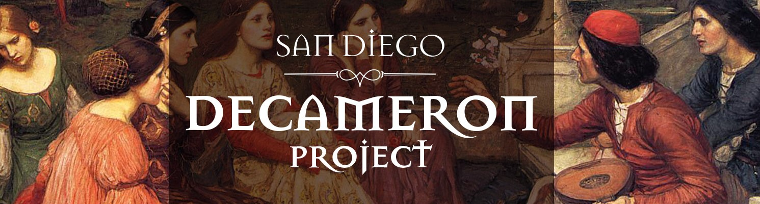 San Diego Decameron Project banner graphic