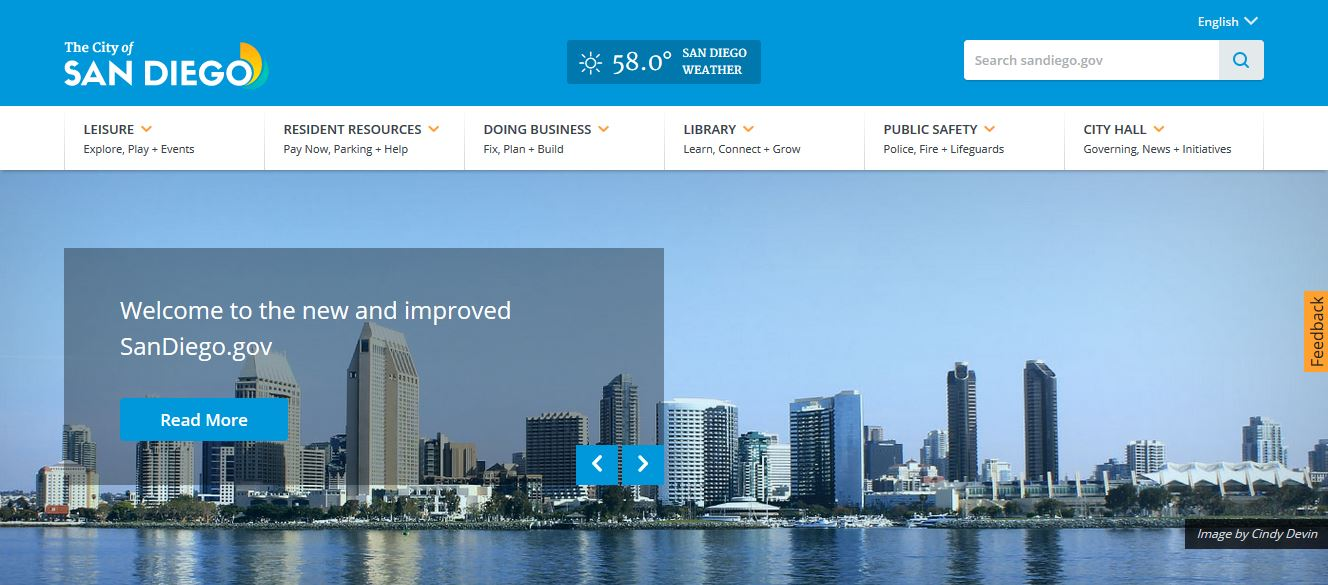 Image of sandiego.gov beta site