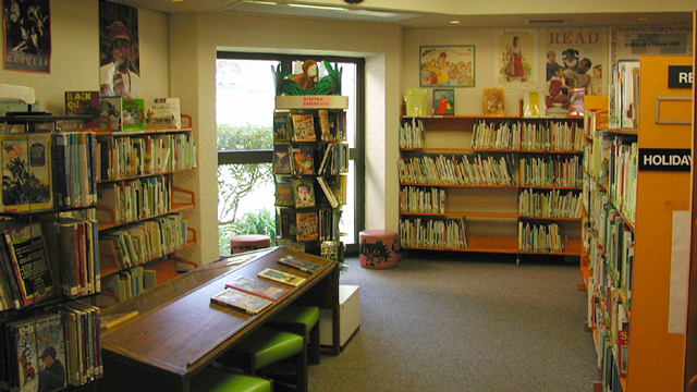 Children's area inside the Mountain View/Beckwourth Library