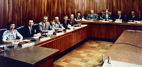 San Diego Council in Chambers, circa 1961