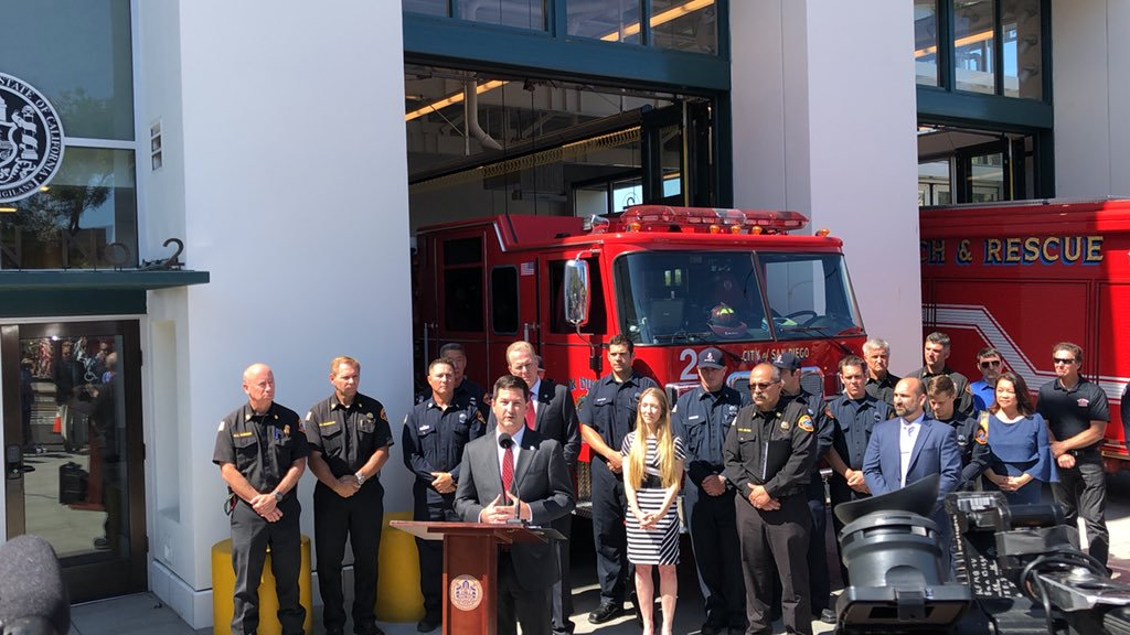 Councilmember Ward opening the new Bayside Fire Station in Little Italy