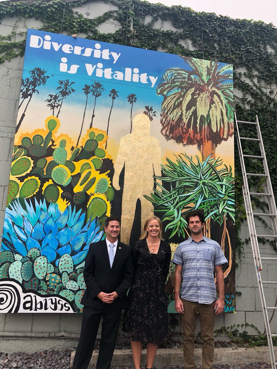 Unveiling the new You Are Gold mural celebrating inclusivity, acceptance, and diveristy in Mission Hills