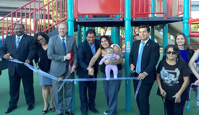 Photo of Chicano Park ribbon cutting