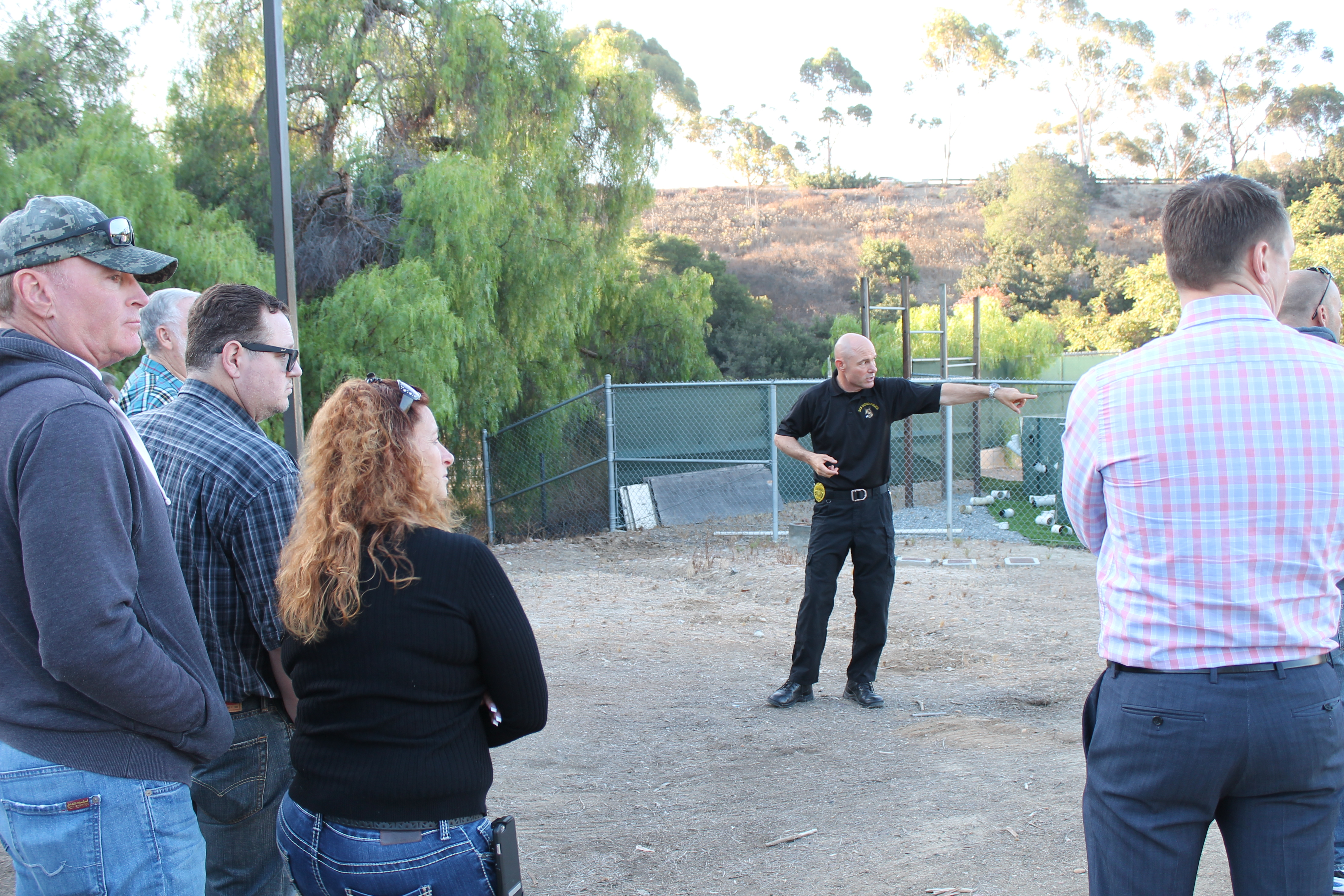 Photo of SDPD canine facility tour