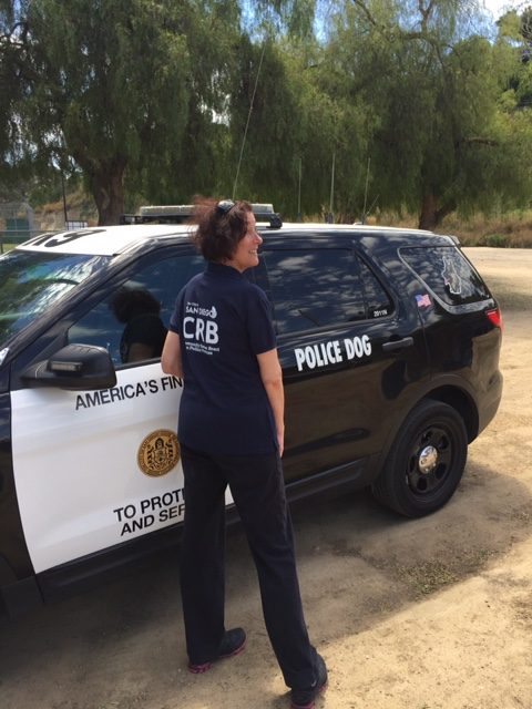Community Review Board member on a SDPD ride-along