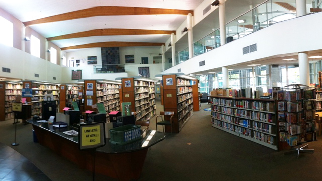 Interior view inside the City Heights/Weingart Library