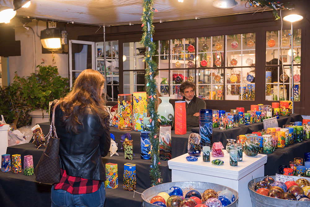 Christmas shoppers at December Nights 2017