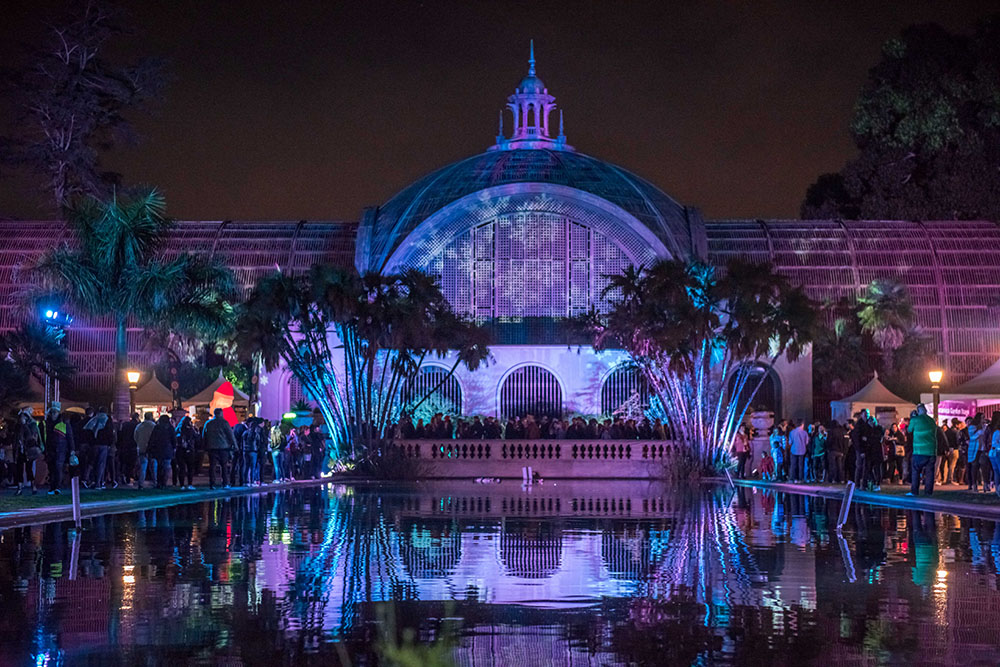 The Botanical Garden illuminated with light at December Nights 2017