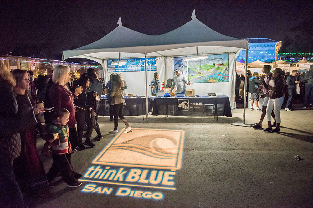 Think Blue San Diego vendor booth at December Nights 2017