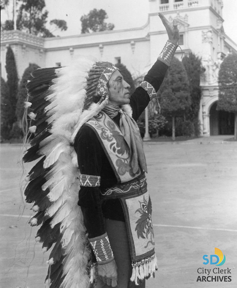 1935-36 California Pacific Exposition, Chief Watta Montezuma