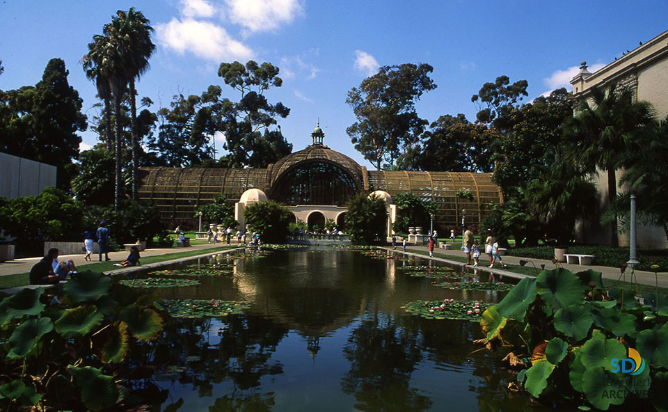 Balboa Park Botanical Building And Lily Pond