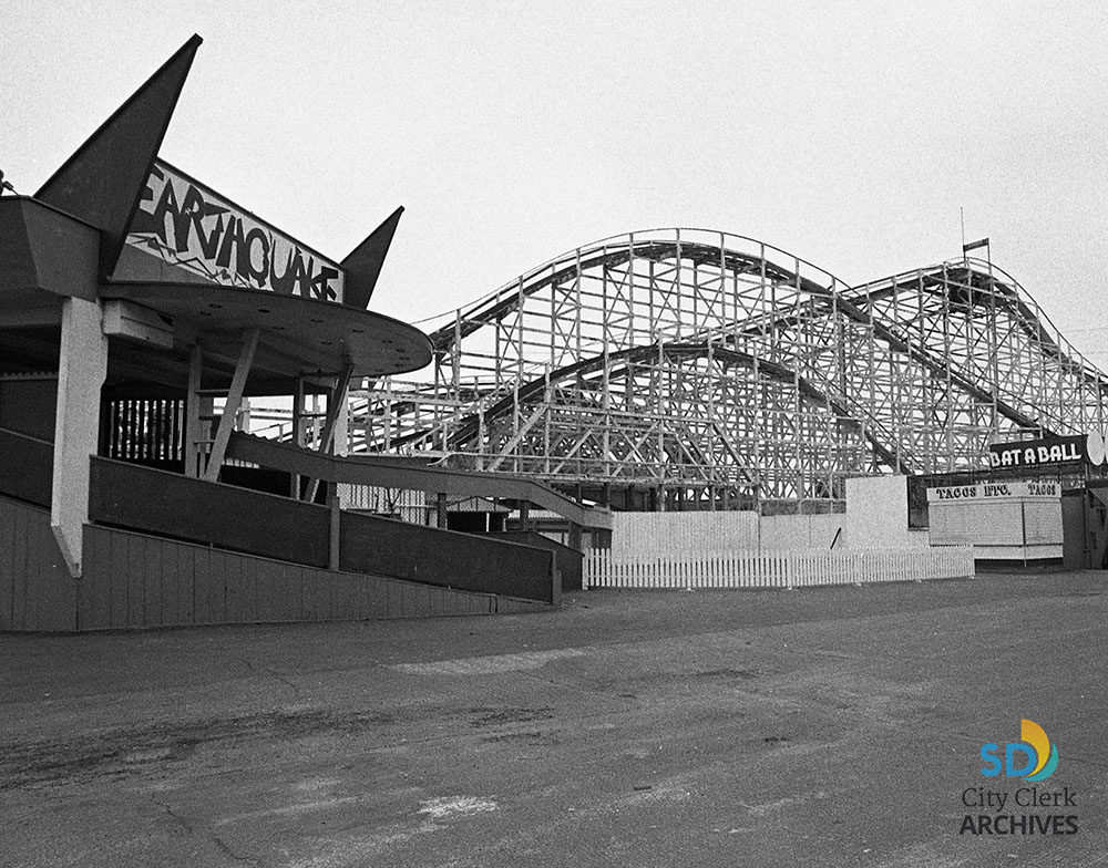 Belmont Park Earthquake Roller Coaster Now Giant Dipper City Of San Diego Official