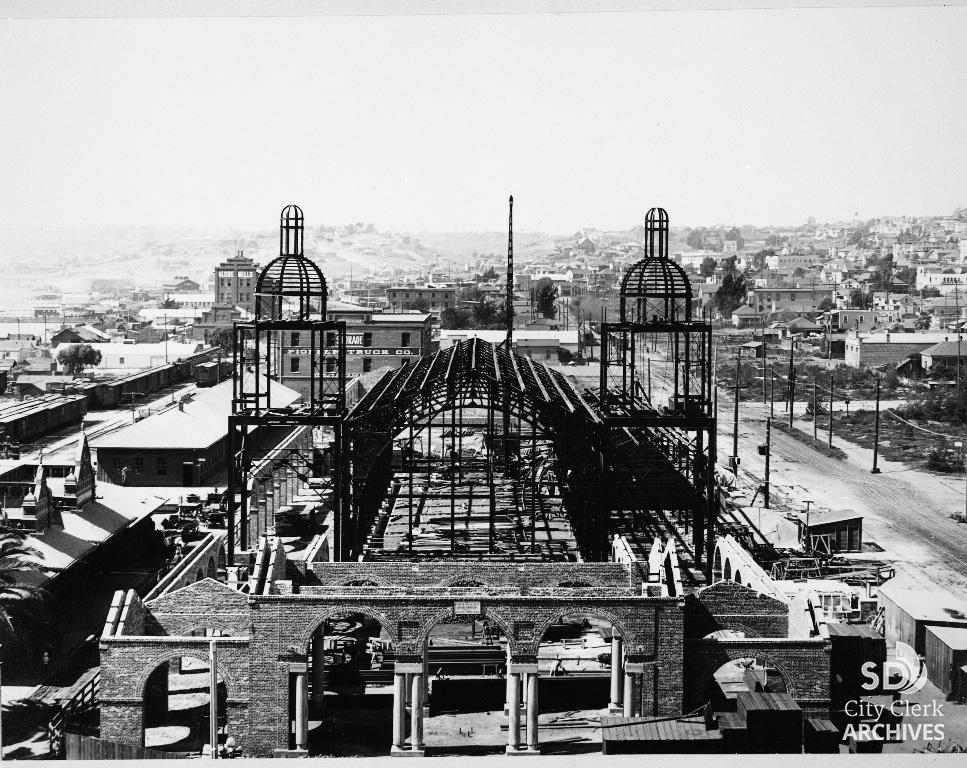 Santa Fe Depot Under Construction In 1914 City Of San Diego Official Website