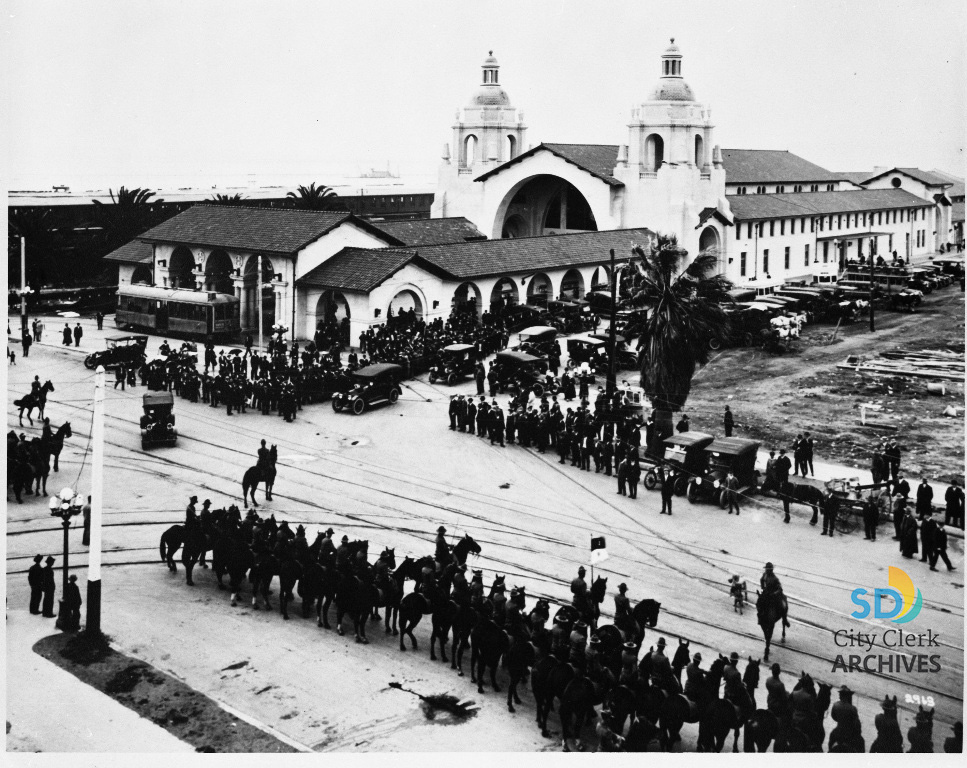 Opening Day Of The Santa Fe Depot In 1915 City Of San Diego Official Website