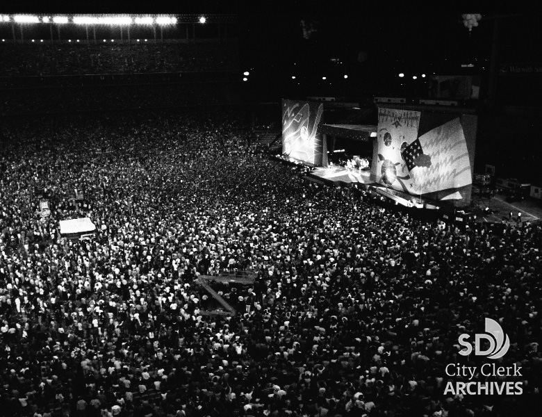 1981 Rolling Stones Concert In Jack Murphy Stadium
