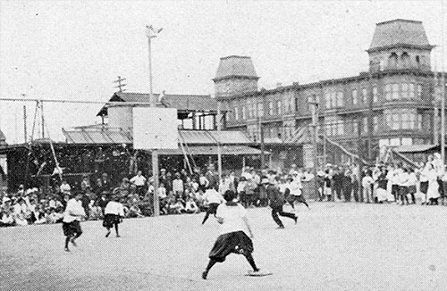 Girls Playing Ball at Rose Park Playground in 1914