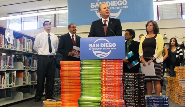 Photo of Mayor Faulconer announcing $13 Million in Funding