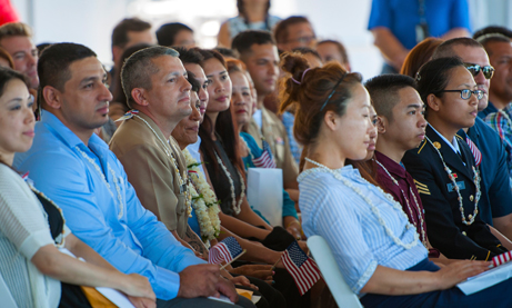 Photo of naturalization ceremony