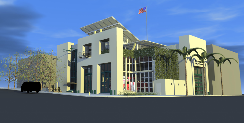 Rendering of Bayside Fire Station