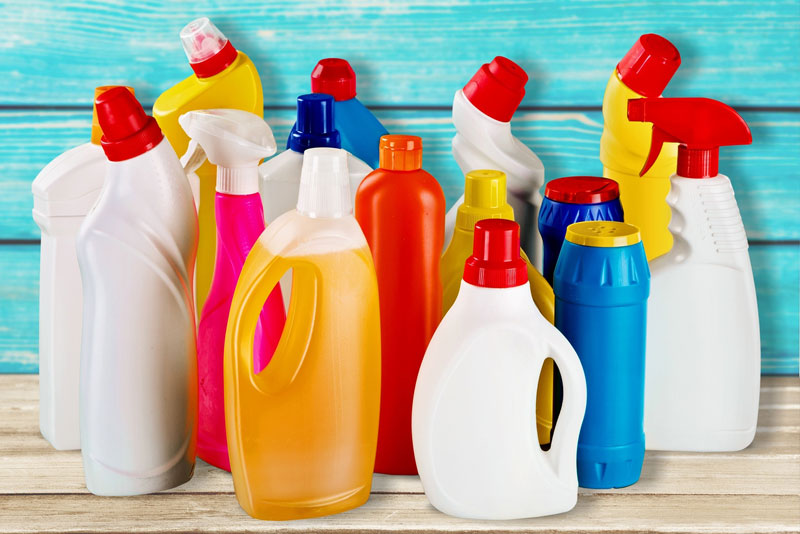Generic household cleanser bottles