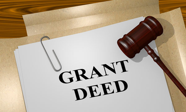 Document titled Grant Deed with gavel