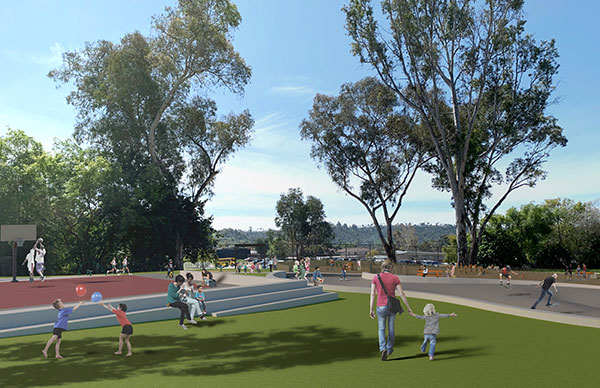Grantville Park after conceptual upgrades