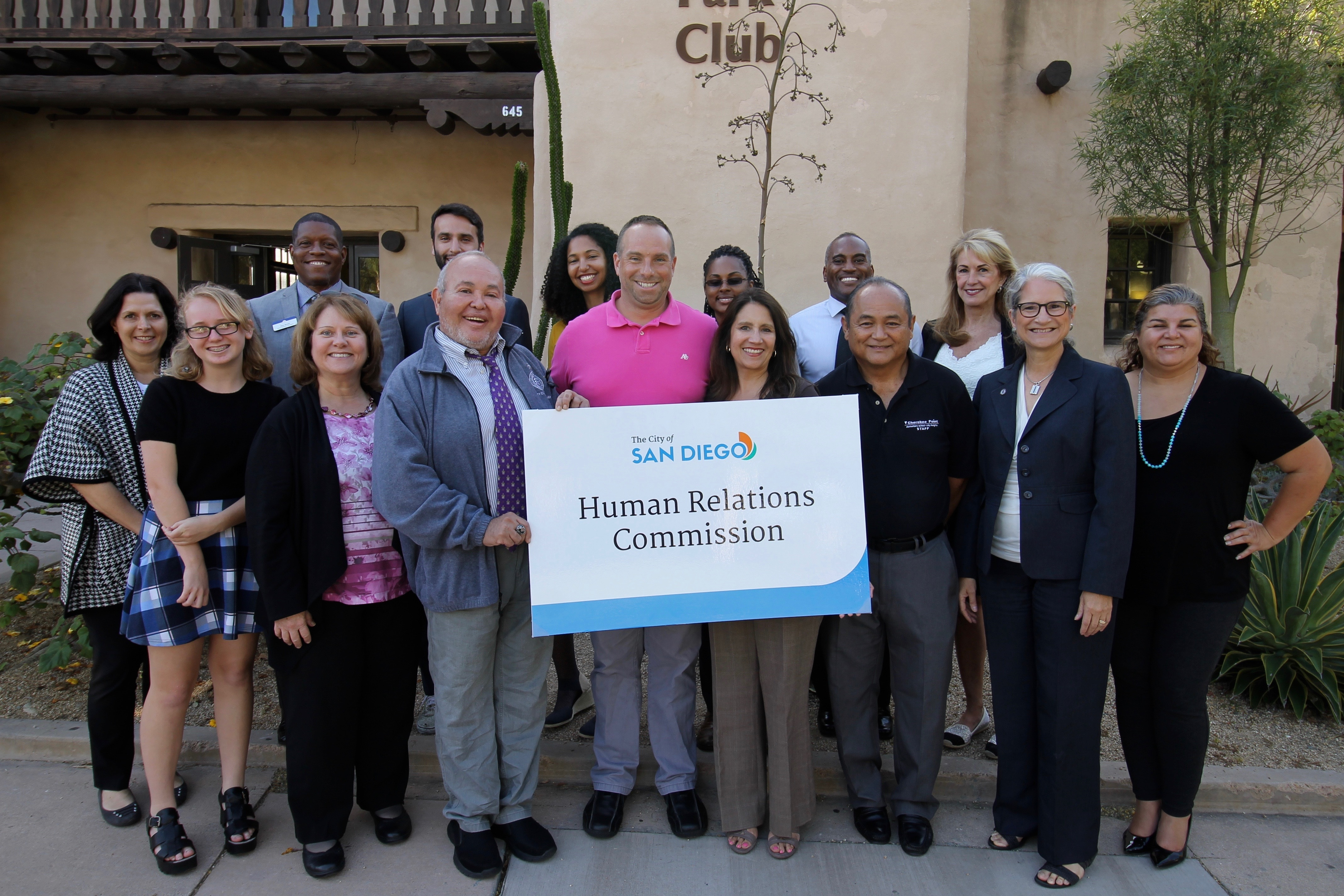 San Diego Human Relations Commission Group Photo