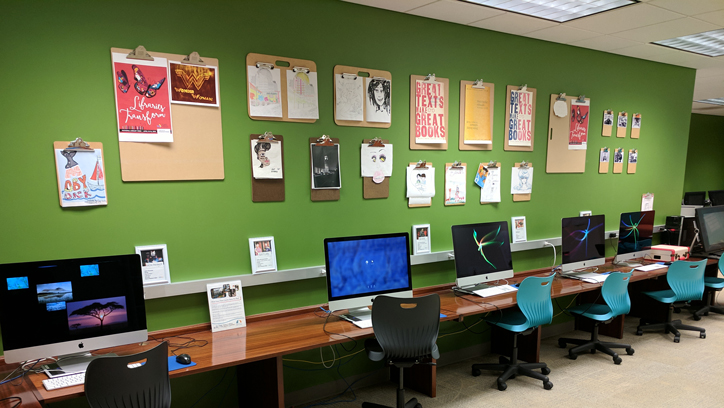 Photo of the of the IDEA Lab at the Central Library