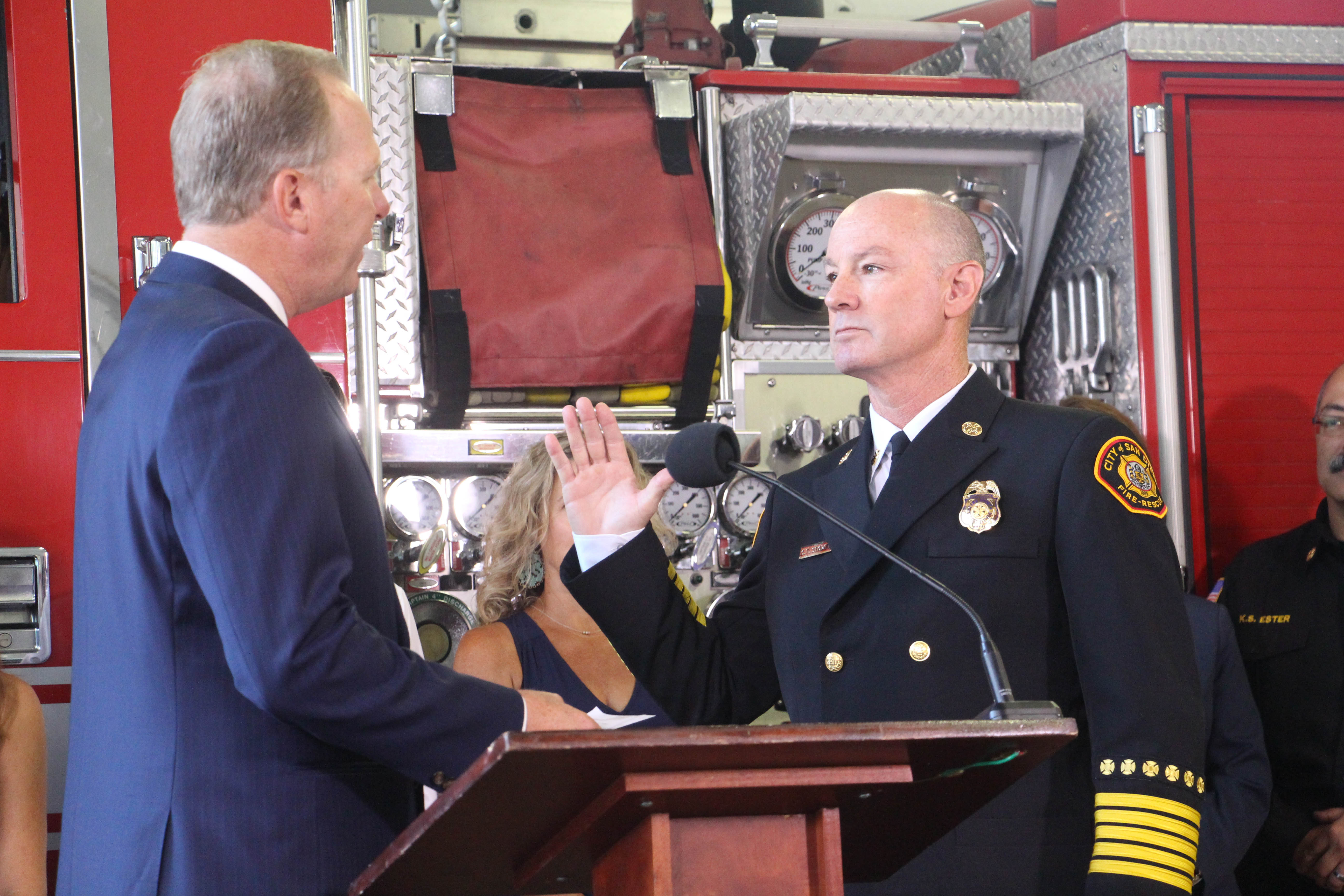 Chief Colin Stowell Swearing In Ceremony