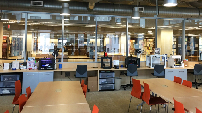 Photo of the Innovation Lab at the Central Library