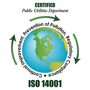 Public Utilities Department ISO 14001 logo