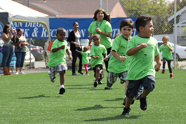 Children running at a Jog-a-thon
