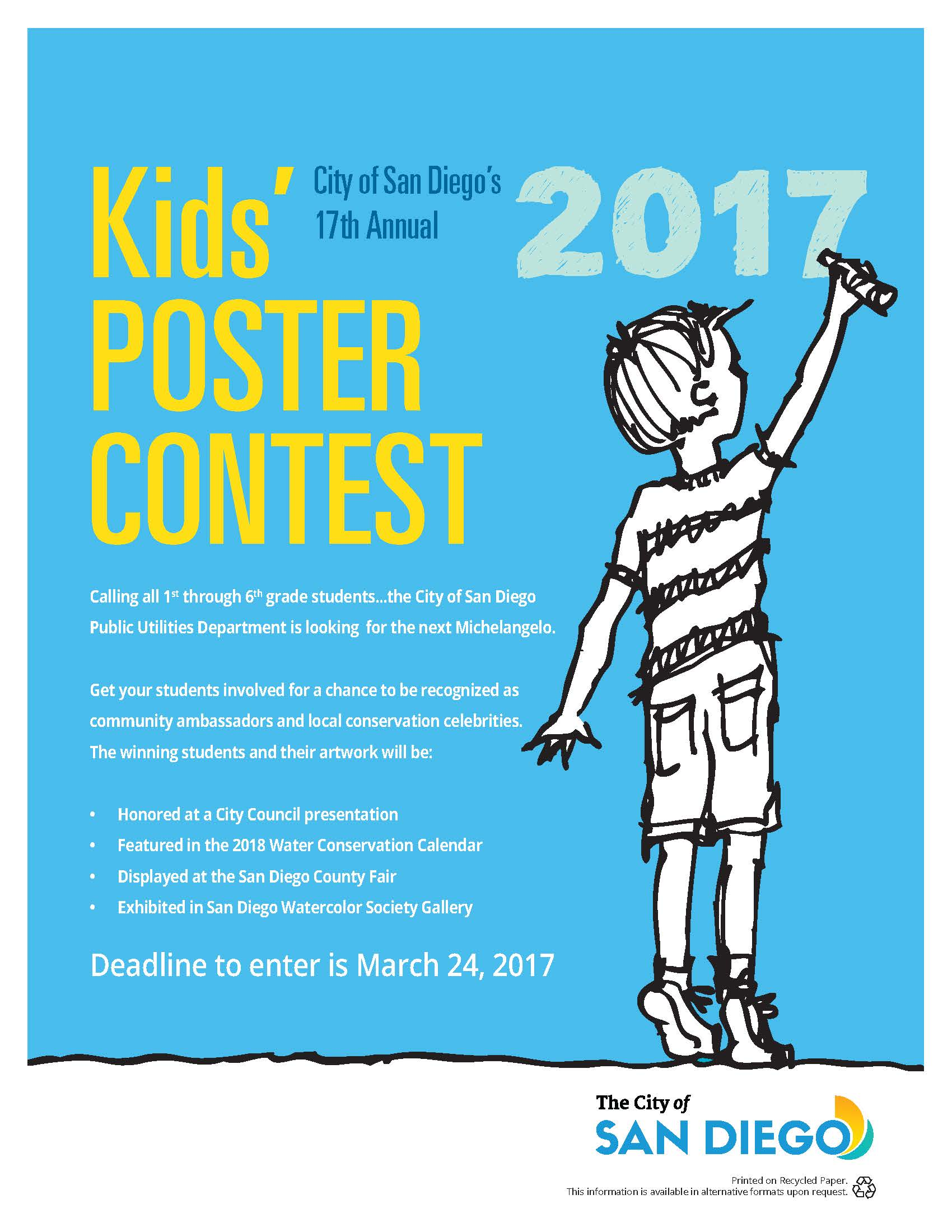 Water Conservation Poster Contest | City of San Diego Official Website