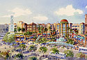 Illustration of Pilot Village, Paseo