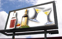 Photo of Alcoholic Billboard Advertisement