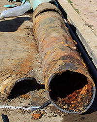 Photo of Corroded Water Main