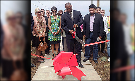 Young cuts ribbon on $3.9 Million 43rd Street Project Showcasing new storm water quality component