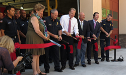 Photo taken at Fire Station 45 ribbon-cutting ceremony