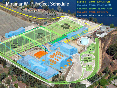 Aerial Photograph of the Miramar Water Treatment Plant Project Map