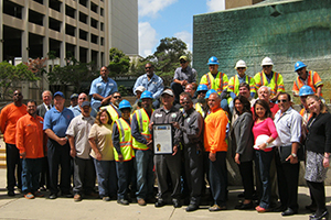 Photo of public works employees