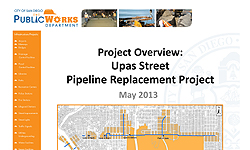 Photo from Upas Street Pipeline Replacement Project Community Meeting